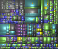 Computer generated graphic of a background. Computer generated graphic of an abstract  background of colorful rectangles Stock Photography