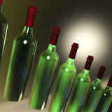 Green Bottles Visualization Royalty Free Stock Photography