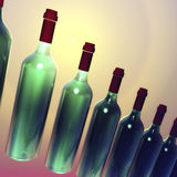 Green Bottles Visualization Stock Photography
