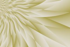 Ivory Beige Tan Curving Angular Petal-Like Shapes Abstract Background Design. A computer generated high resolution abstract with a semicircle of curving angular Royalty Free Stock Photos