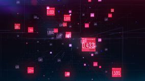Computer generated high tech digital technology animation. 3d rendering background. stock footage
