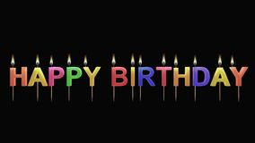 3D illustration of birthday candles. Computer generated illustration of birthday candles on black background Stock Photos