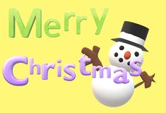 Merry Christmas greeting words royalty free illustration