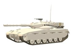 A light painted main battle tank royalty free stock images