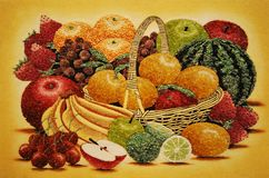 A computer generated image of an assortment of fruits Royalty Free Stock Photo