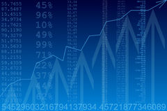 Computer generated image. Business statistics Stock Images
