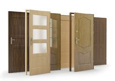 Doors Collection 2, 3D illustration stock illustration