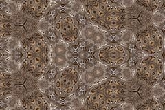 Brown intricate patterned abstract wallpaper. Computer generated intricate patterned abstract wallpaper in various shades of brown royalty free illustration