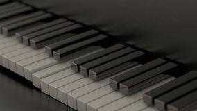 Computer generated piano keys Stock Photos