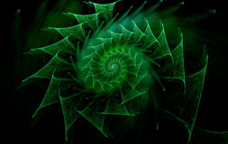 Computer-generated spiral abstract image Stock Image