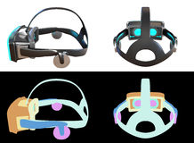 Computer generated Virtual Reality headset concept design. Stock Photos