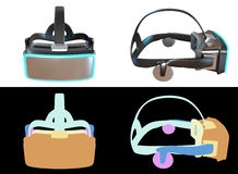 Computer generated Virtual Reality headset concept design. Royalty Free Stock Photo