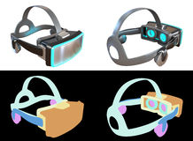 Computer generated Virtual Reality headset concept design. Stock Image