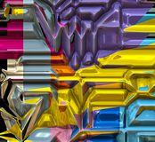 Computer generated vivid hitech abstract art 1. Computer generated vivid hitech abstract art with unique pattern and vivid colors Stock Photos