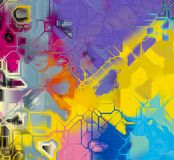 Computer generated vivid hitech abstract art 4. Computer generated vivid hitech abstract art with unique pattern and vivid colors Stock Photography