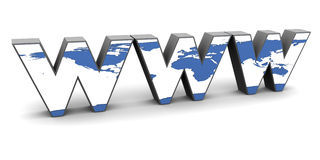 Computer generated World Wide Web abbreviation Royalty Free Stock Images