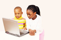 Computer generation kids Stock Image