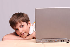 The computer genius Royalty Free Stock Image