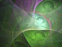 Computer geproduceerd fractal beeld met bel Royalty-vrije Stock Foto