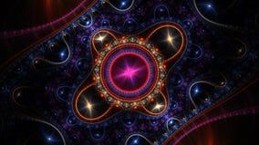 Computer geproduceerd fractal kunstwerk voor creatief ontwerp royalty-vrije illustratie