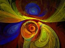 Computer geproduceerde fractal met een abstracte achtergrond Stock Afbeeldingen