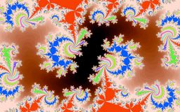 Computer geproduceerde patronen Stock Afbeeldingen
