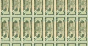 Computer geproduceerde video met overgangen van Amerikaanse Bankbiljetten van 20,50,100 dollars stock videobeelden
