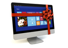 Computer gift Royalty Free Stock Photo