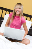 Computer Girl Royalty Free Stock Photography