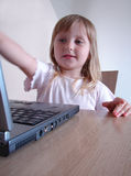Computer girl Stock Photography