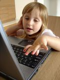 Computer girl Royalty Free Stock Images