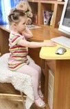 computer girl Стоковая Фотография RF
