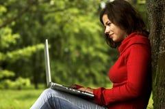 Computer girl Royalty Free Stock Image