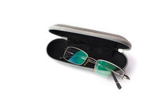 Computer glasses in a case isoalted Royalty Free Stock Photos