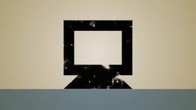 Computer Global Profile Loop stock footage