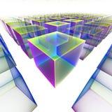 Computer grafica: Cubi magici Immagini Stock Libere da Diritti