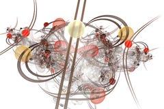 Computer grafica: Marmi sulle linee e curve con i fiori Fotografia Stock Libera da Diritti