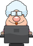 Computer Grandma Royalty Free Stock Photos