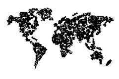 Computer graphic World map Stock Images