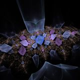Computer graphics: Magic gems Royalty Free Stock Photos