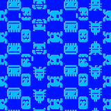 Computer graphics. Seamless pattern on a blue background Royalty Free Stock Photo
