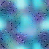 Computer Grid Matrix pattern on blurred background Stock Photo
