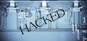 Computer Hacked Royalty Free Stock Image