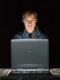 Computer hacker. In the work Stock Photography