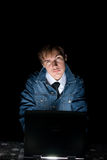 Computer hacker Stock Photography
