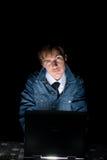 Computer hacker Stock Photography
