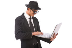 Computer hacker Stock Photo