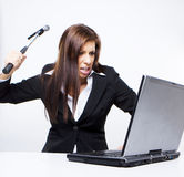 Computer hacker attack Stock Image
