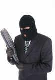 Computer hacker - criminal with the keyboard Stock Photography