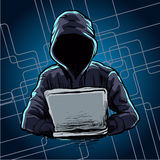 Computer hacker spread a net Stock Images